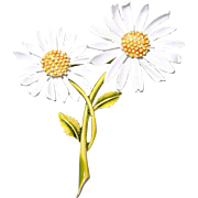 Double Daisy Flower Brooch by ART