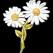 Double Daisy Flower Brooch by ART