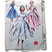 McCalls Sewing Pattern Teen Party Dress