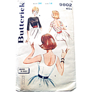Butterick Sewing Pattern: Quick and Easy Sexy Blouse, 3 in One Pattern