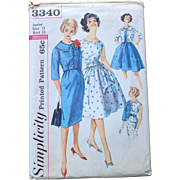 Simplicity Sewing Pattern: One-Piece Dress with 2 Skirts and Jacket