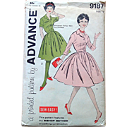 Vintage Advance Sewing Pattern: Easy Sew Dress with Full Skirt