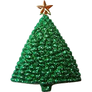 Vintage Designer Musical Christmas Tree Brooch