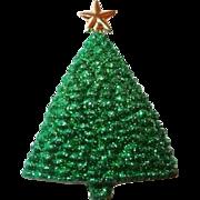Vintage Designer Musical Christmas Tree Brooch