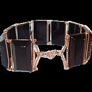 Black Plastic Wire Jewelry Bracelet, Prison Art