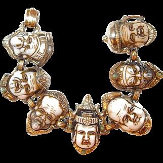 Asian Seven Gods of Good Fortune Bracelet
