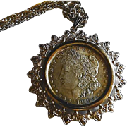 Morgan Silver Dollar 1879 Presentation Pendant