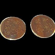Large Unisex Generic Monogram Cufflinks