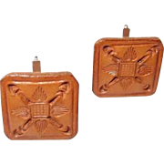 Hand Tooled Leather Cufflinks