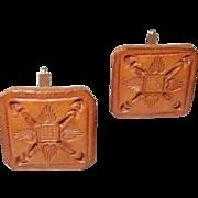 Hand Tooled Leather Cufflinks