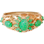 Green Trifari Jewels of India Bracelet