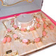 Pink Thermoset Parure by L'Amour Fifth Avenue in Box