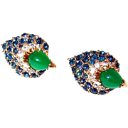 Scarce Boucher Peacock Eye Earrings