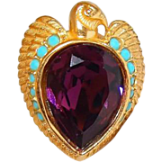 Egyptian Falcon Bird Ring Size 7.5 by Elizabeth Taylor for Avon