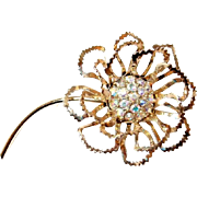 Sarah Coventry Flower Large Dimensional Brooch