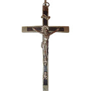 Catholic Nun Pectoral Habit Crucifix Cross with Skull and Crossbones