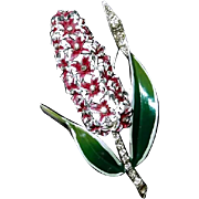 Enamel Coro Hyacinth Brooch 1941 - Book