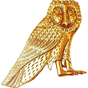 Egyptian Museum Replica Owl Brooch by VMFA
