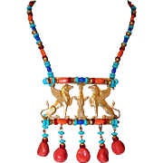 Larry Vrba for Haskell Egyptian Lion Pendant Collection Inspired by King Tut