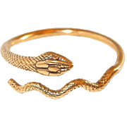 MMA Snake Bracelet Size Large with Details from King Tuts Exhibition