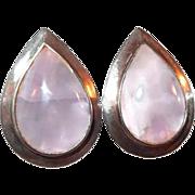 Amethyst Quartz Mid Century Clip Earrings