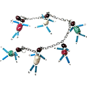 Beaded Import Charm Bracelet Children Playing or Baby Dolls