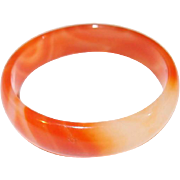 Orange Marble Tourmaline Stone Bangle Extra Small