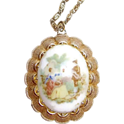 Soft Cameo Necklace Marked M.I.W.Germany