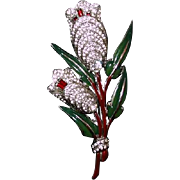 Quivering Enamel Tulips Brooch by Adolph Katz for Coro 1939