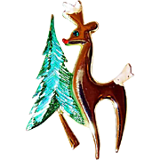 Christmas Tree and Reindeer Pin