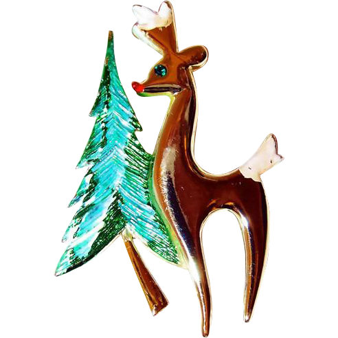 End of Year BLOWOUT SALE is here: Christmas Tree and Reindeer Pin
