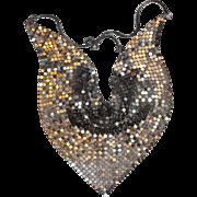 Silver-tone Mesh Bib Necklace