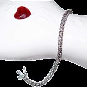 White Gold Diamond Tennis Bracelet 10k - Gold is on the rise again
