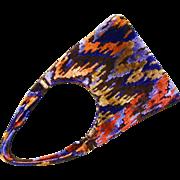 Retro Designer Carpet Bag Purse - See Description for proper coloring