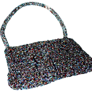Lovely Go Anywhere Multicolored Hand Beaded Purse