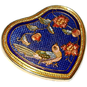 Cloisonne Bird Motif Purse Mirror in our End of Year SALE