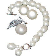 Marvella Simulated Fresh Water Pearl Toggle Bracelet, Pin and Earring Set