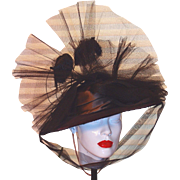 Original Theater Hat from a 1940s by Designer M. Richardson for a Federico Fellini Movie Production