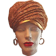 Gold Confetti Turban Hat Dana Original by Union