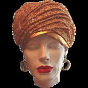 Gold Confetti Turban Hat Dana Original by Union