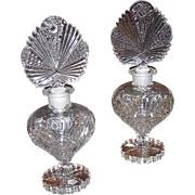 Two 40s Duchess Crystal Perfume Bottles 9.5 Inches by Irving Rice