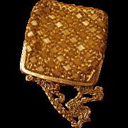 Gold Beaded Evening Bag Made in Hong Kong