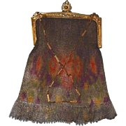 Dresden Enamel Mesh Bag by Whiting and Davis Late 1800s - Red Tag Sale Item