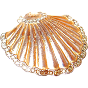 1944 Sterling and Paste Coro Shell Duette Fur Clip