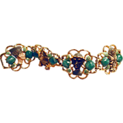Enameled Egyptian Bracelet from 1960s Cleopatra Movie