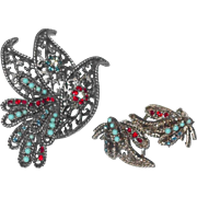 BSK Bird Set; Pin and Earrings in End of Year SALE