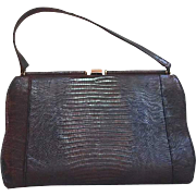 1930s Lizard Reptile Skin Handbag by Marquise