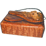 Genuine Alligator Handbag Made in Cuba 1950s