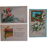 Postcard Lot of Easter 1911 Scenic Floral Cards