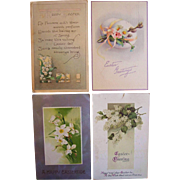 Easter Egg Postcard Lot with Flowers
